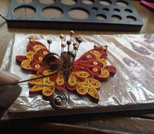 Бабочка из Полосок Бумаги по Технике Квиллинг