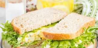 5 бутербродов с яйцами