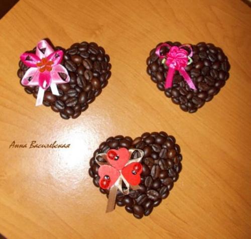 12 Изделий из Кофейных Зерен в Подарок ко Дню Святого Валентина