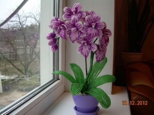 6 Цветущих Букетов из Бисера в Подарок на 14 Февраля