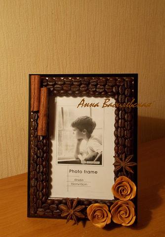 Рамка для фото Кофейные розы