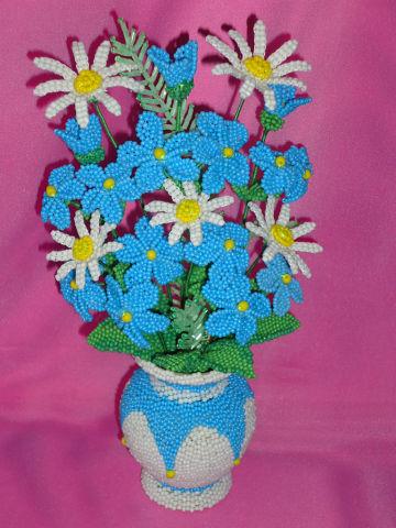 Букет цветов из бисера Аромат лета