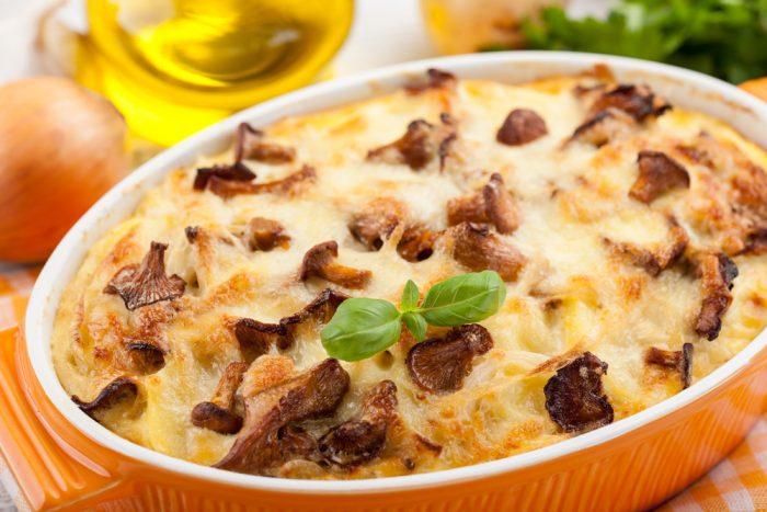 Гратен с картошкой и грибами