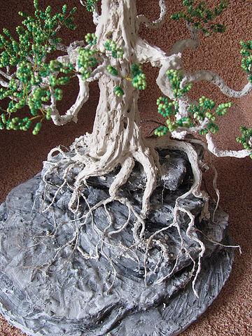 имитация коры дерева бонсай