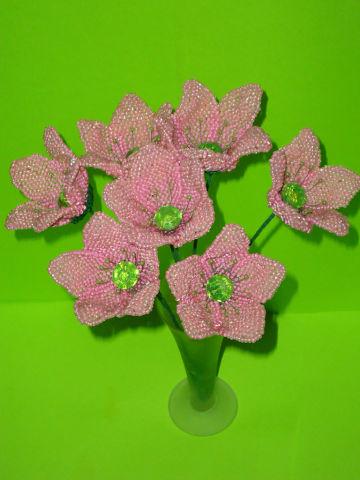 Букет цветов из бисера Нежность