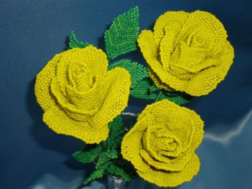 Букет роз из бисера Цветы солнца