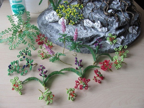 украшение камнями основу-скалы для дерева бонсай