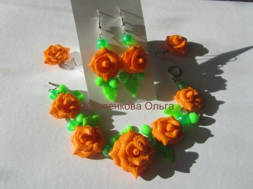 Набор украшения из полимерной глины Оранж