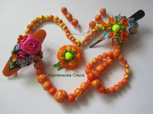 Набор украшения из полимерной глины Апельсиновая радость