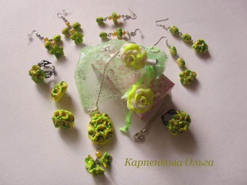 Набор украшения из полимерной глины Лимонная прелесть