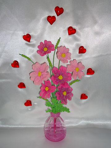 Букет цветов из бисера Весеннее настроение