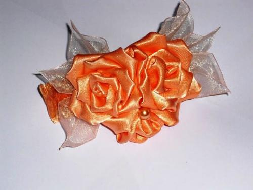 Заколка для волос Роза