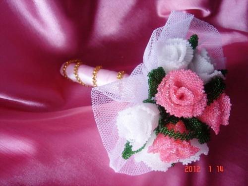 Цветочная композиция из бисера Букет невесте