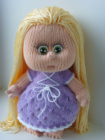 Вязаная кукла своими руками Рапунцель