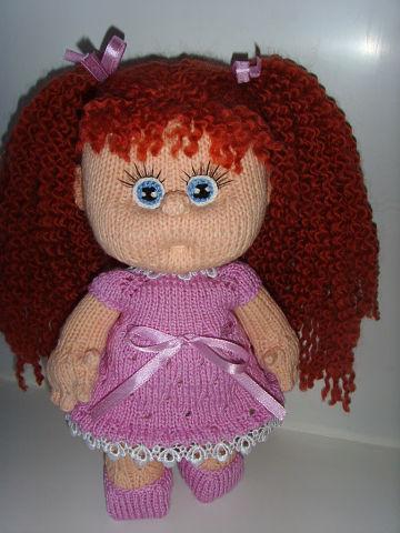 Вязаная кукла своими руками Рыжулька