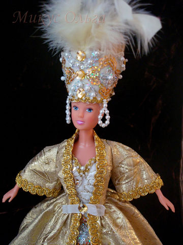 Наряд для куклы Снежная Королева
