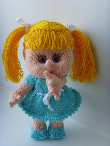 Вязаная кукла своими руками Солнечная Дюймовочка