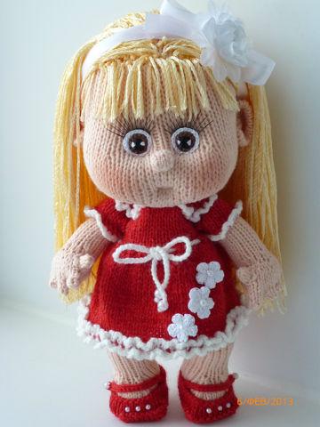 Вязаная кукла своими руками Юленька