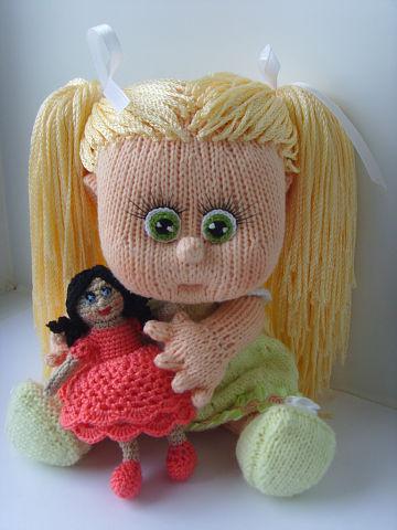 Вязаная кукла своими руками Полина