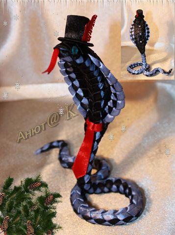 Змея из атласной ленты Джентльмен