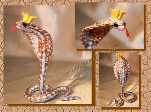 Змея из атласной ленты Пустынная