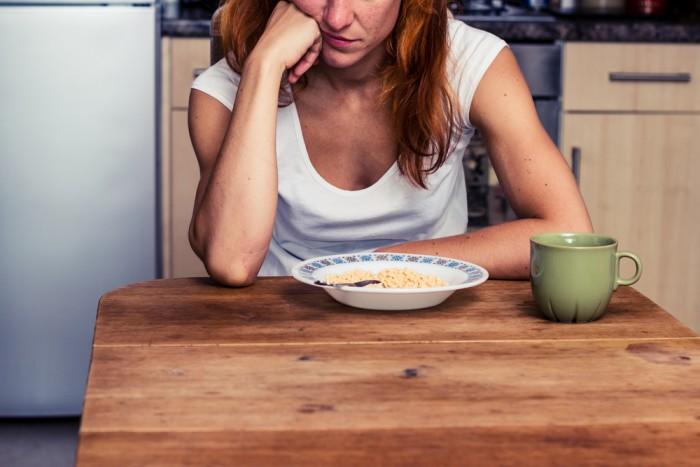 Девушка перед едой