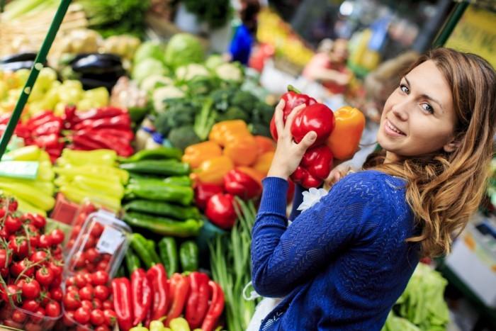 Фрукты, злаки, овощи и белки
