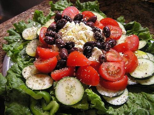 Средиземноморский салат Греции