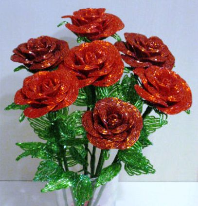 8 Роз из Бисера – Чудо Мастерство