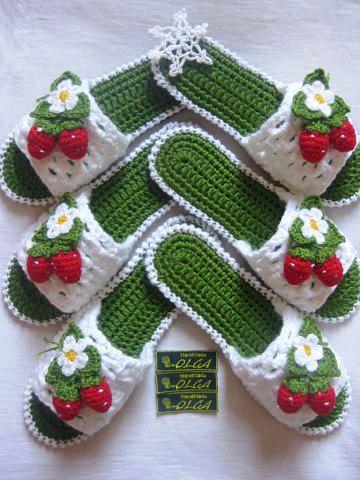 25 вязанных женских тапочек своими руками