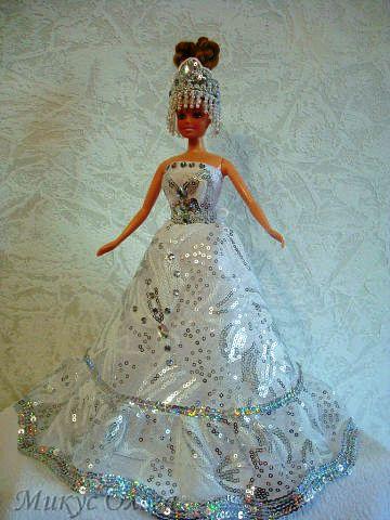 Мастер-Класс по Шитью и Создание Нарядного Платья для Куклы Барби. Шаг 9.