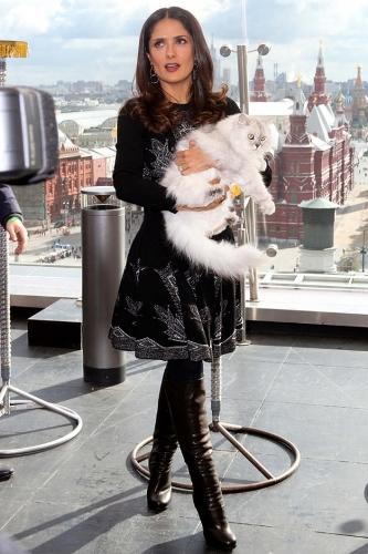 Сальма Хайек любит кошек
