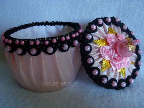 Шкатулка Розовый зефир