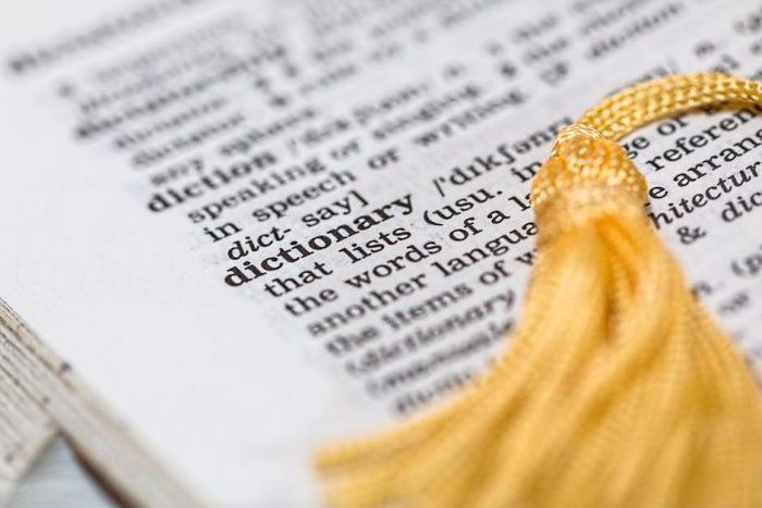 словарь с закладкой
