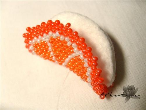 Плетение Брелка-Апельсина из Бисера – Мастер-Класс. Часть 2. Шаг 12