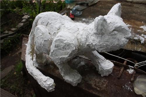 Снежный Барс для Декорирования Сада – Мастер-Класс. Шаг 5