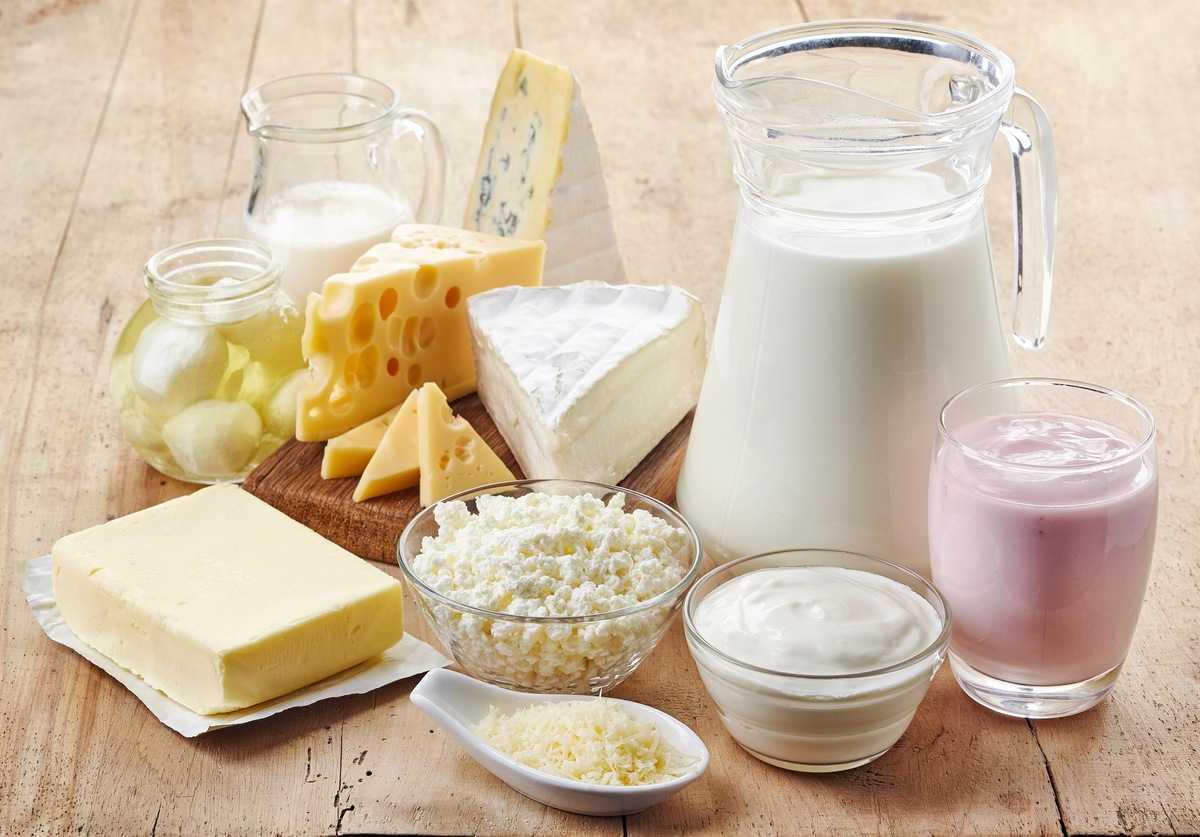 Fettarme oder fettarme Milchprodukte