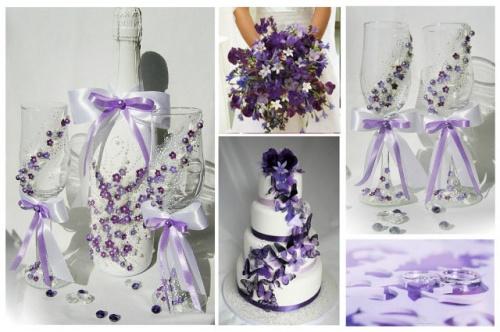 Свадебные бокалы Фиолет