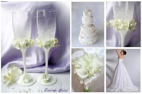 Свадебные бокалы Фрезия
