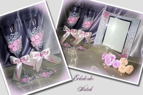 Свадебные бокалы Роза