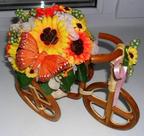 Велосипеды в виде декора Осеннее счастье