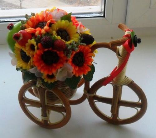 Велосипеды в виде декора Осенние краски