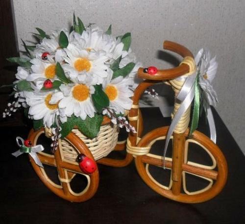 Велосипеды в виде декора Ромашки