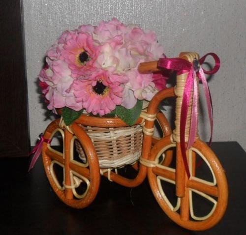 Велосипеды в виде декора Розовое счастье
