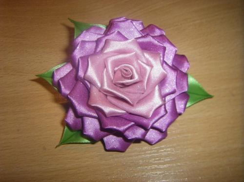 Заколка Роза в фиолете