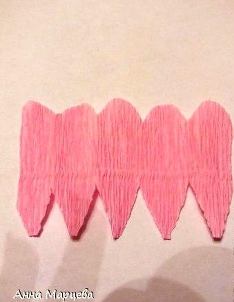 Букет Цветов из Гофрированной Бумаги – Мастер-Класс. шаг 3.
