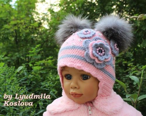 Вязаные шапочки для деток Принцесса