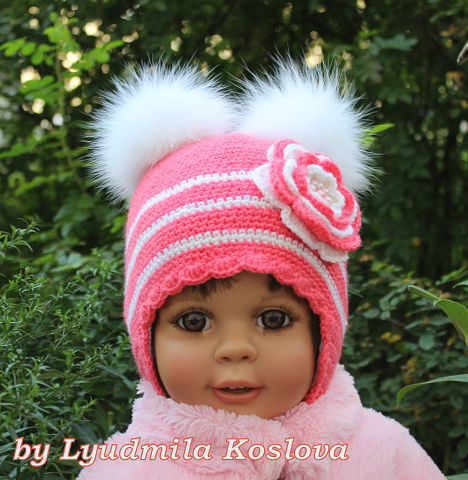 Вязаные шапочки для деток Прелесть