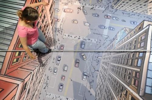 3D-рисунки на асфальте