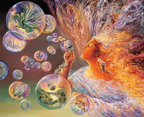 Искусство цветных пузырей